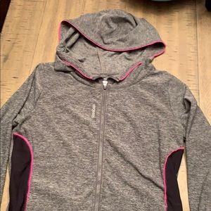 Girls Reebok zip up jacket